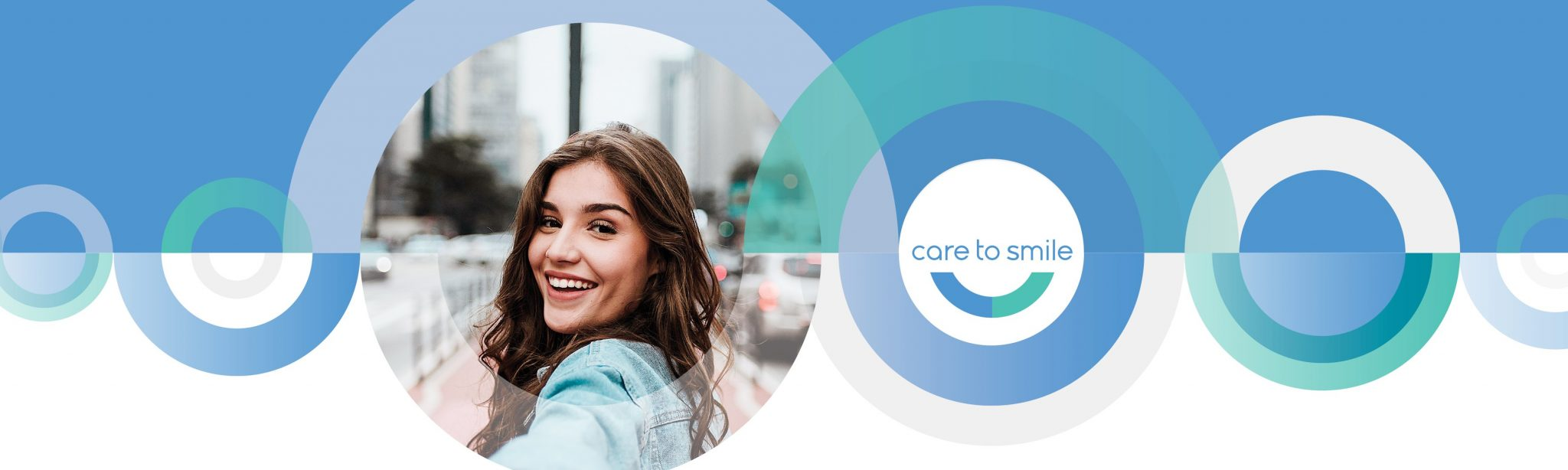 Girl smiling with white teeth and Toowong Orthodontics visual identity